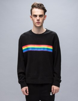 XANDER ZHOU Rainbow Stripe Sweatshirt Picture