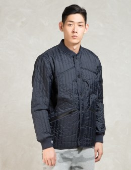 10.DEEP Navy Huntsman's Quilted Jacket Picture
