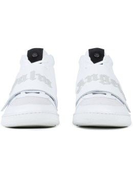 Palm Angels White Basket Mid-cut Sneakers Picture
