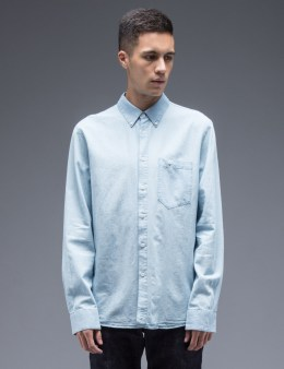 Nudie Jeans Blue Stanley Denim Shirt Picture