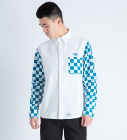FUCT SSDD White/Blue Checker Flag L/S Shirt Picture