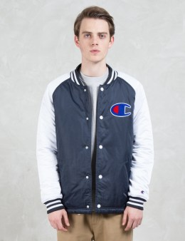 Champion Reverse Weave Satin Varsity Jacket Picture