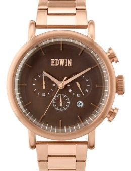 EDWIN Watch Gold With Brown Dial Element Picture