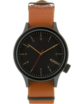 KOMONO Black Cognac Magnus Watch Picture
