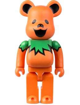Medicom Toy Orange 400% Grateful Dead Dancing Bears Be@rbrick Picture
