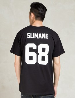 LES (ART)ISTS Black SLIMANE68 Football T-Shirt Picture