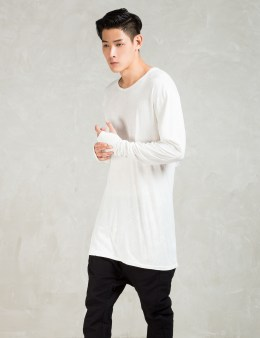 11 By Boris Bidjan Saberi White L/S Ls1 T-Shirt Picture