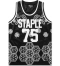 Staple Black Paisley Jersey