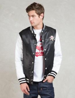 ICECREAM Black Cb Satin Varisty Jacket Picture