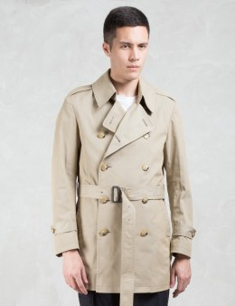 VALLIS BY FACTOTUM Drop Shoulder Trench Coat Picture