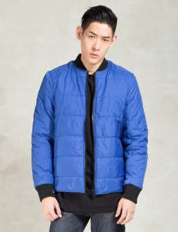 Christopher RAEBURN Blue Quilted Bomber Picture