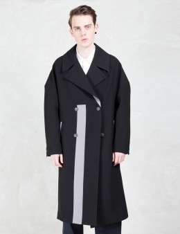 GENERAL IDEA Overcoat With Stripe Print Picture
