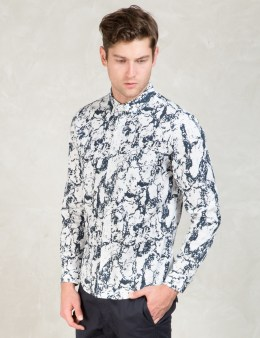 Stussy White Marble Shirt Picture