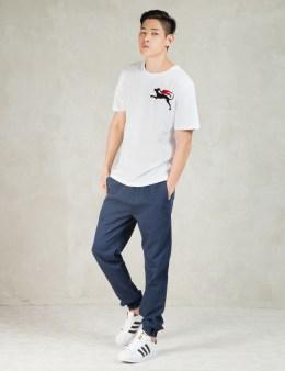 Soulland White Sumner T-shirt W.flock Print Picture