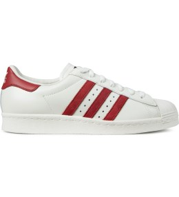 adidas Originals Vintage White/Red Superstar 80s DLX B35982 Shoes Picture