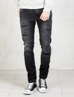 Nudie Jeans Deep Black Worn Lean Dean Jeans Picture