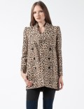 CARVEN Multicolor Manteau Drap Printed Wollen Coat Picutre