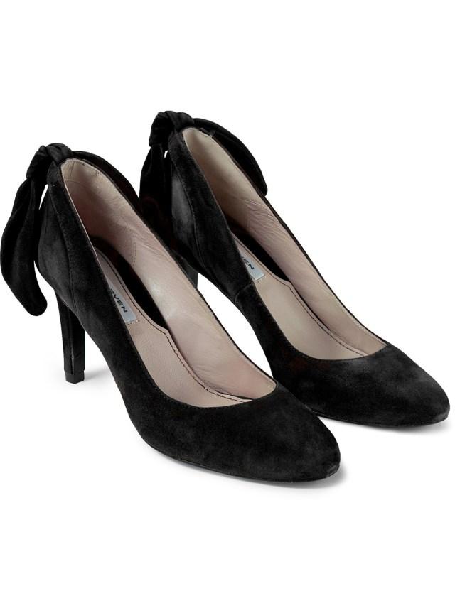 carven noir escarpin talon noeud heels hbx