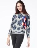 MSGM Grey Floral  Maglia Sweater Picutre