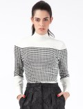 Opening Ceremony White Multi Small Inbox Turtleneck Sweater Picture
