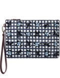 Mother of Pearl A Pranzo Navy Check Medium Clutch Picture