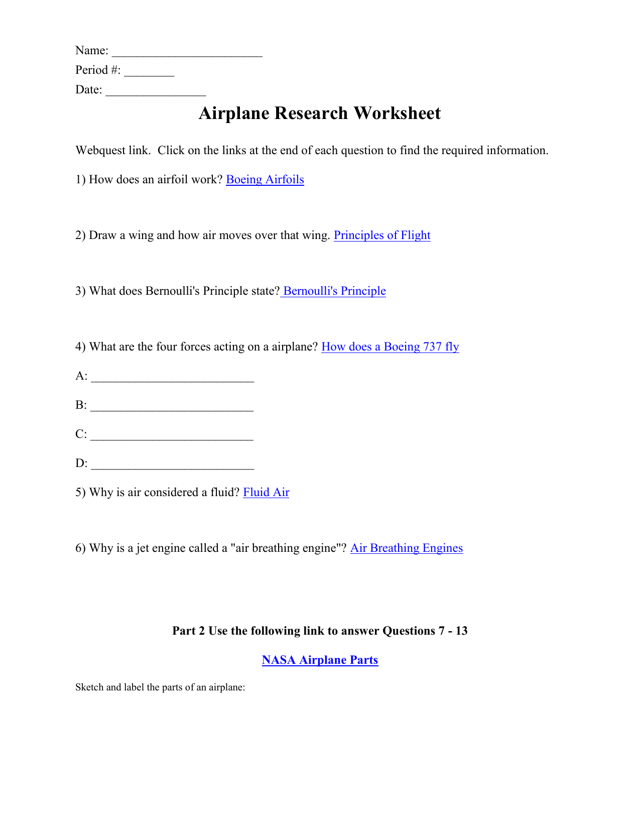 Get Here Label Parts Of An Airplane Worksheet