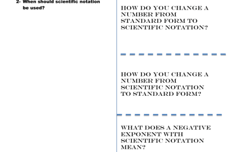 Best Free Fillable Forms Standard Form To Scientific Notation