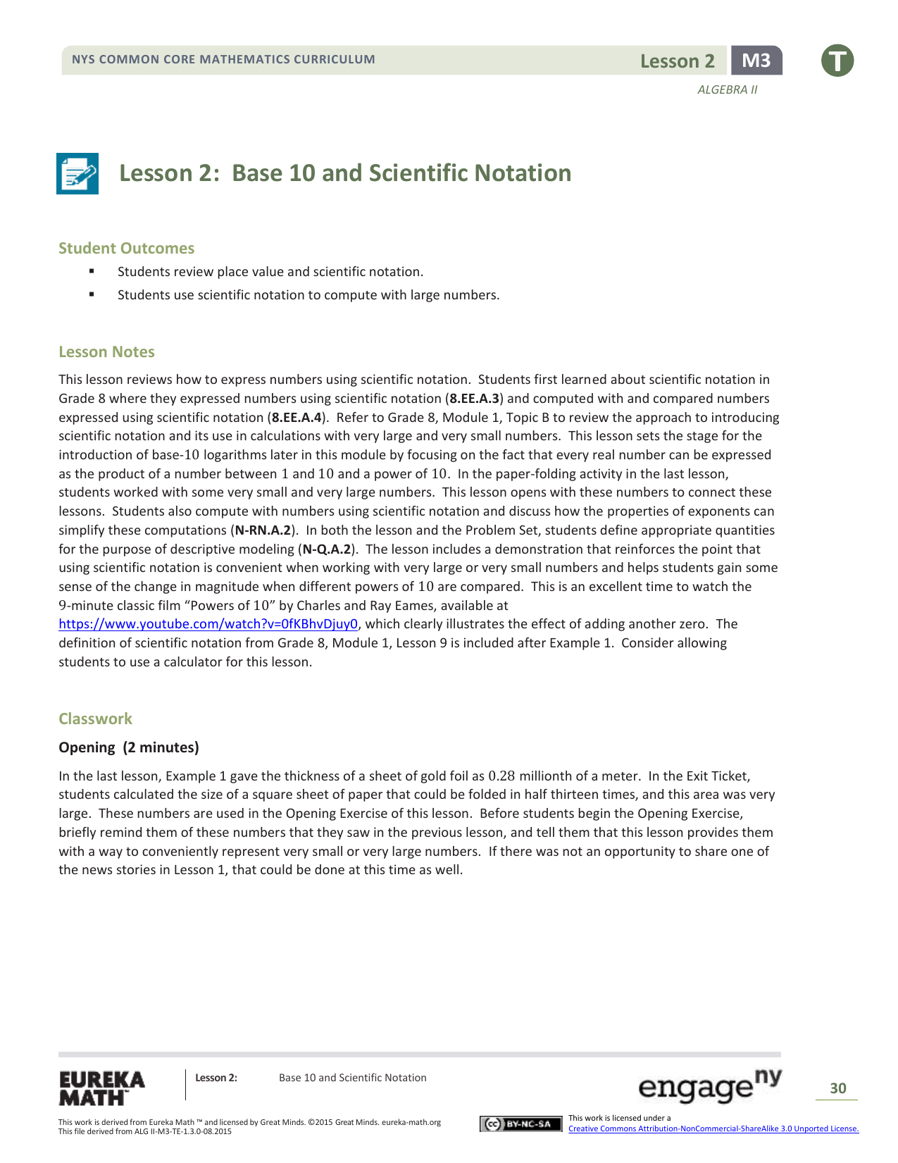 Lesson 2 Base 10 And Scientific Notation