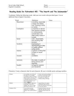 Fahrenheit 451 Study Questions