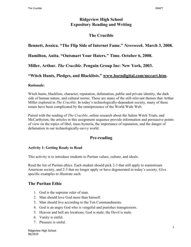 free crucible essays  applydocoumentco