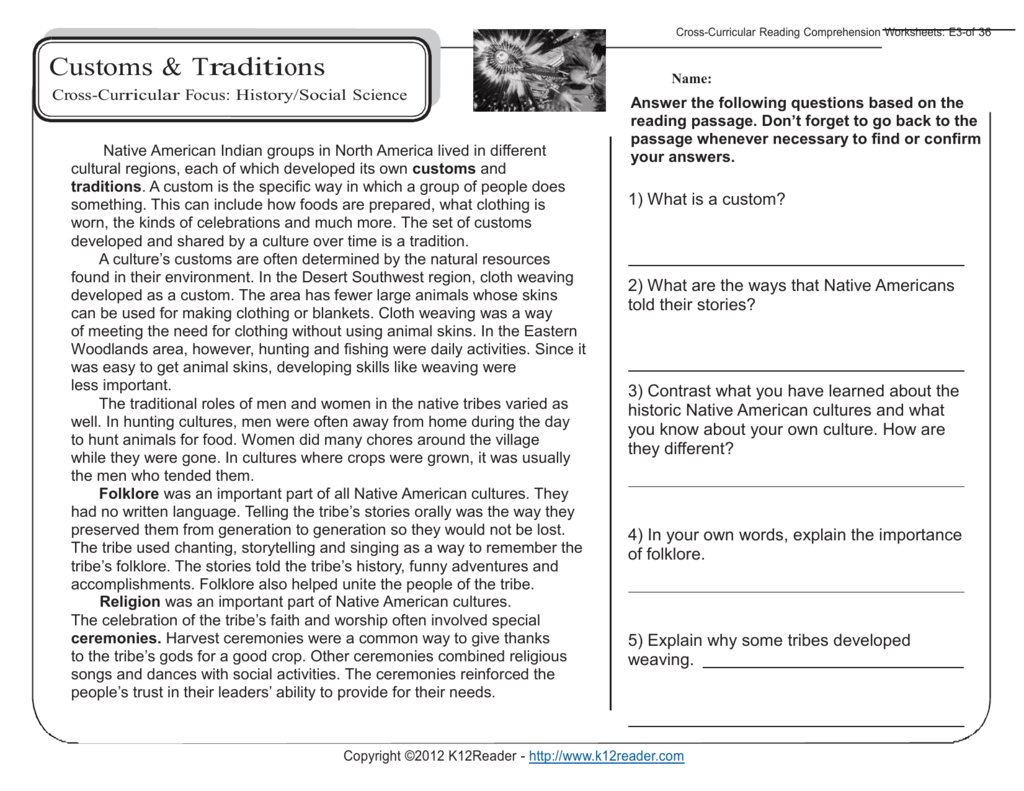 Reading Comprehension Worksheets 5th Grade