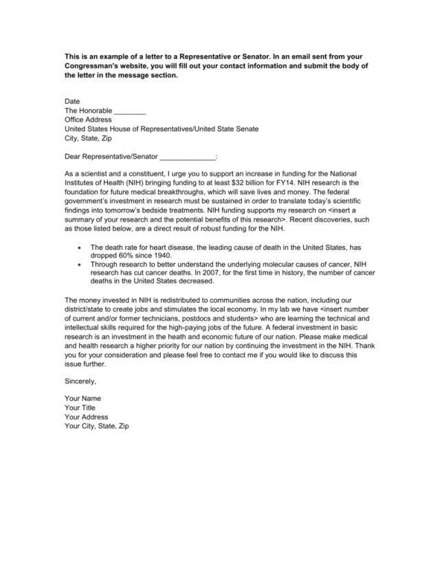 Writing A Letter To A Senator - slide share