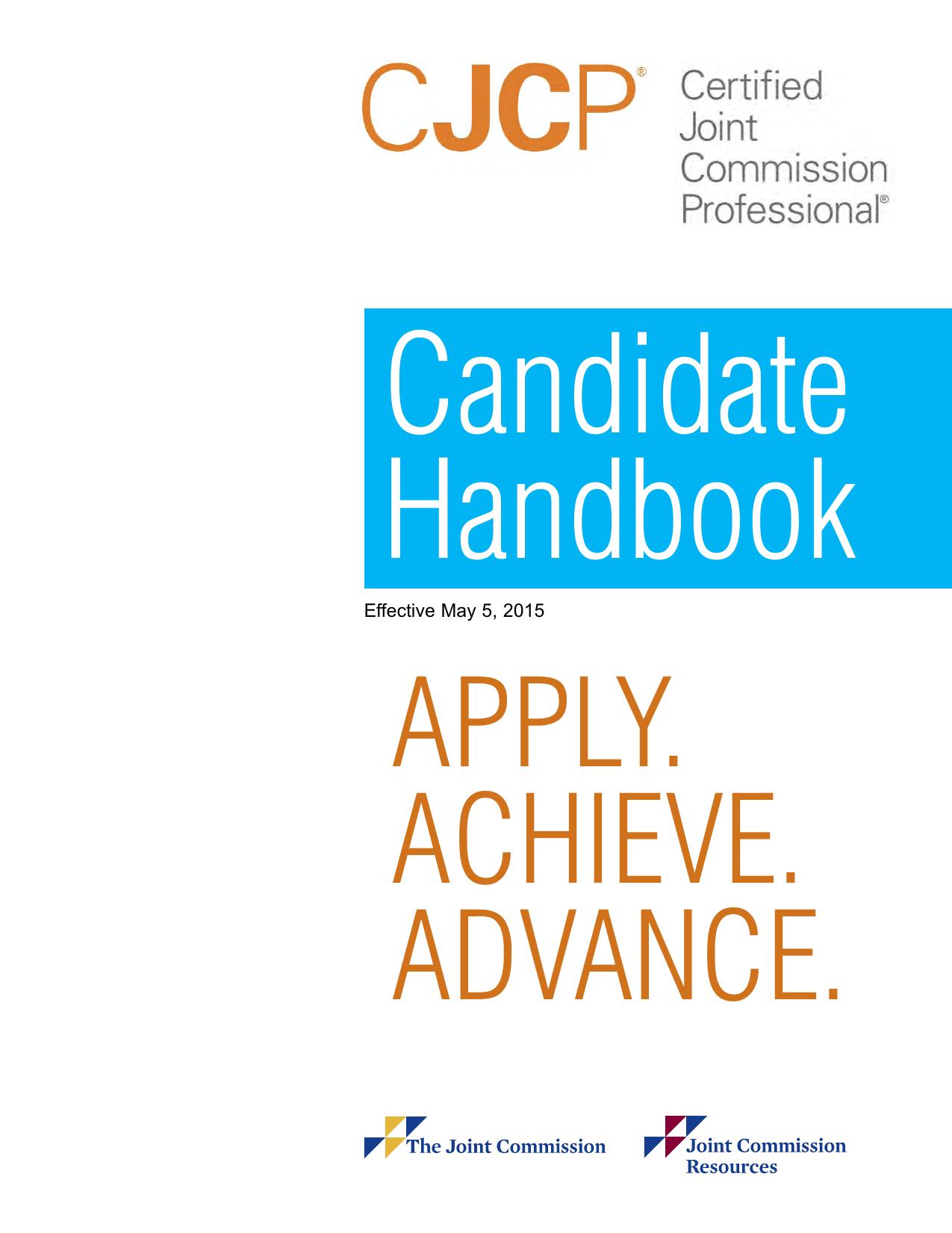 Cjcp Candidate Handbook