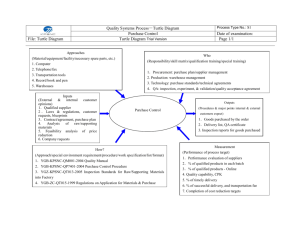 Quality Systems Process-Turtle Diagram Purchase Control