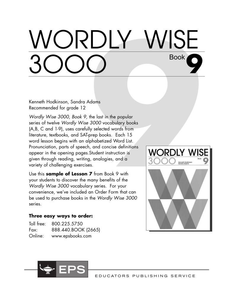 Wordly Wise 3ooo 9