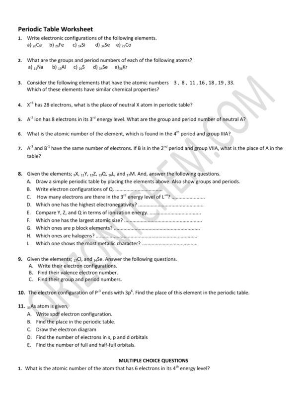 periodic table period and group periodic table worksheet periodic table worksheet answers group 4 period