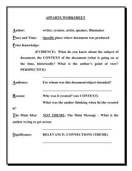 De Escalation Worksheet