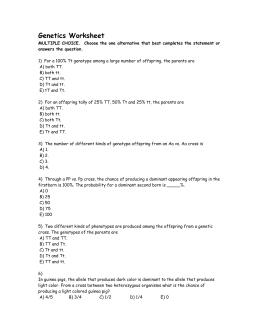 Monohybrid And Dihybrid Practice Problems