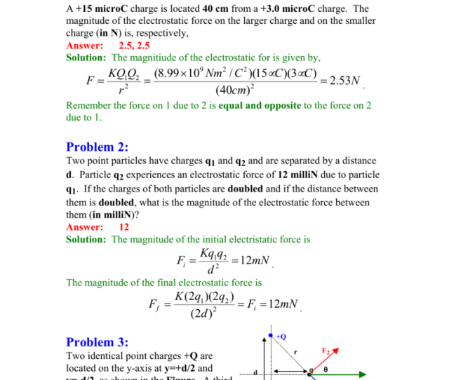 Chapter 1electric Charge And Electric Fields I Electrostatic