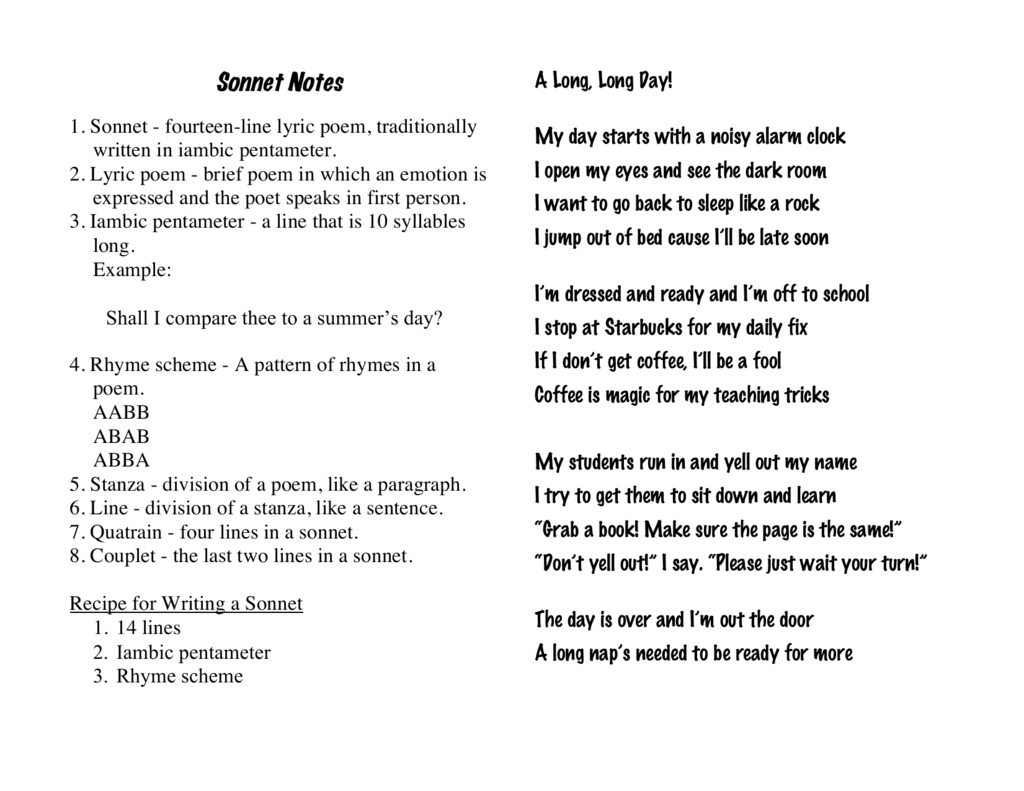 Abab Poems About School