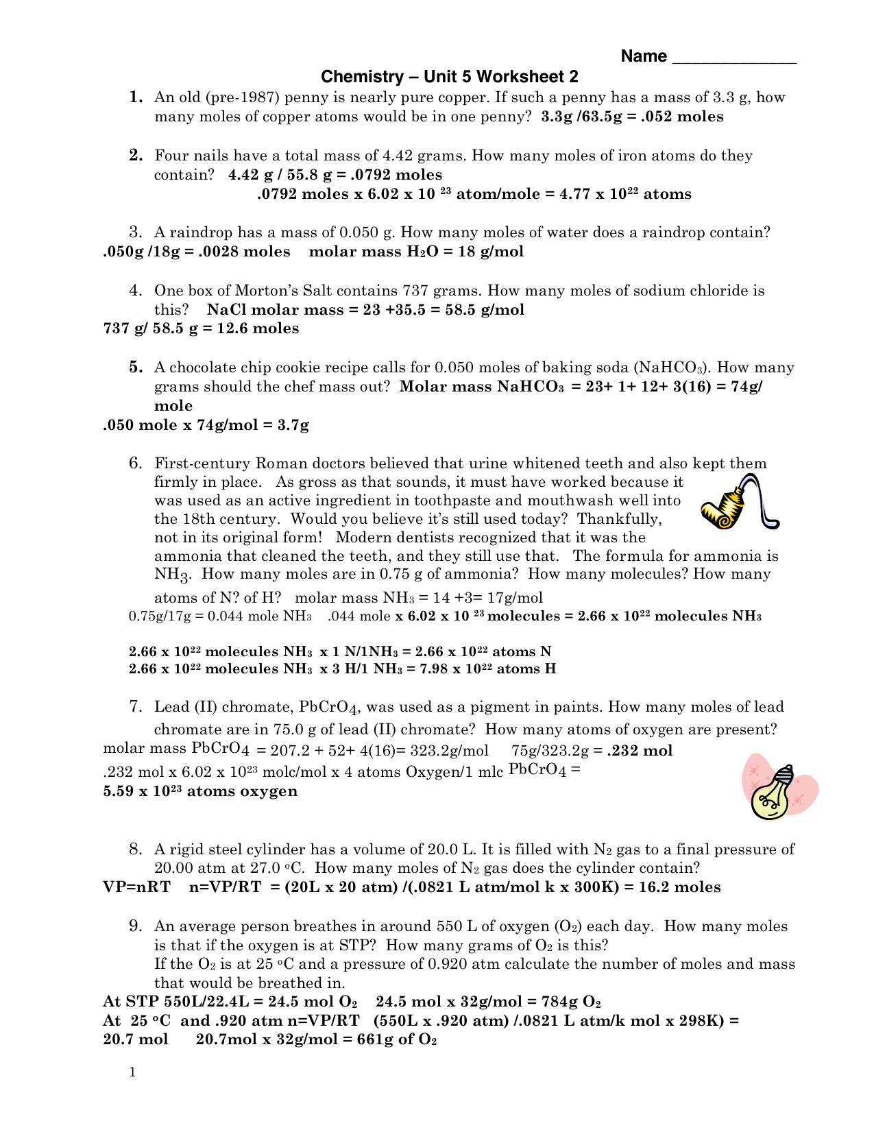 Unit 5 Worksheet 2