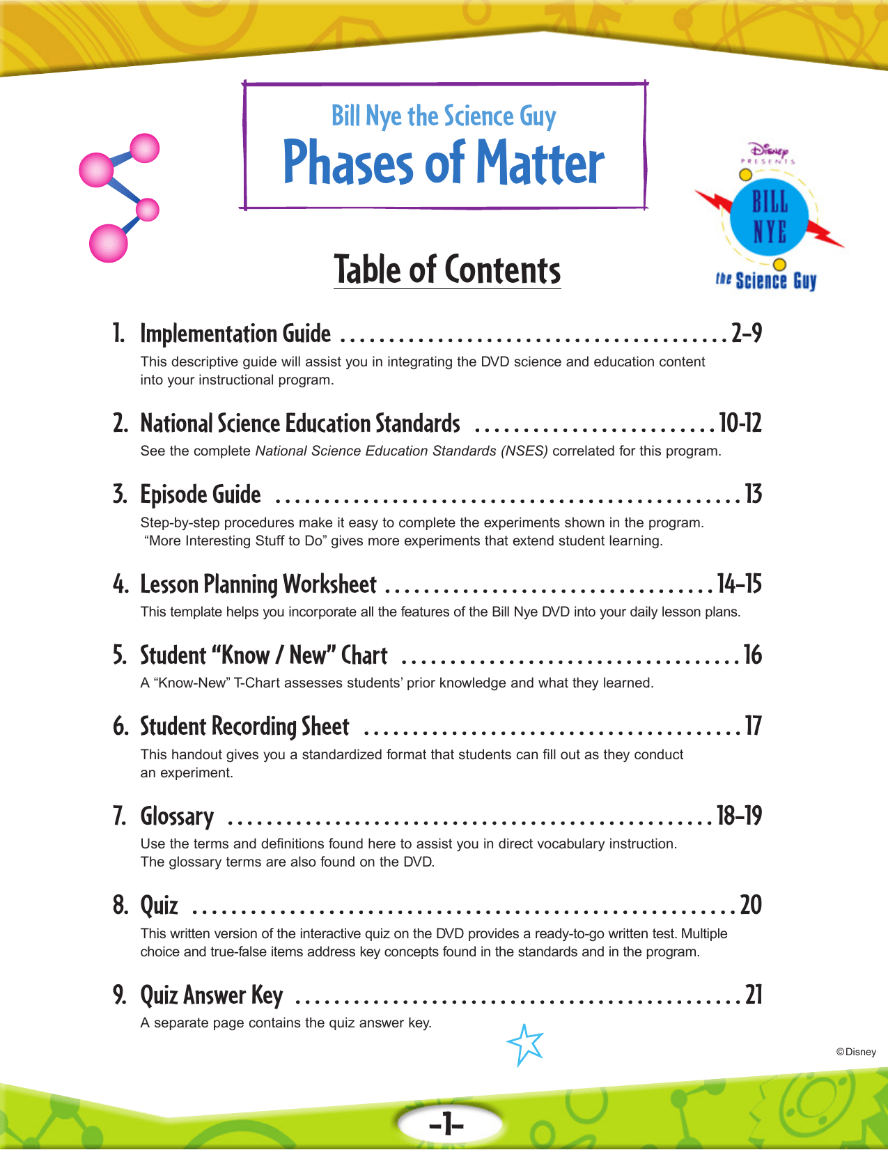 Bill Nye Phases Of Matter Worksheet Answers