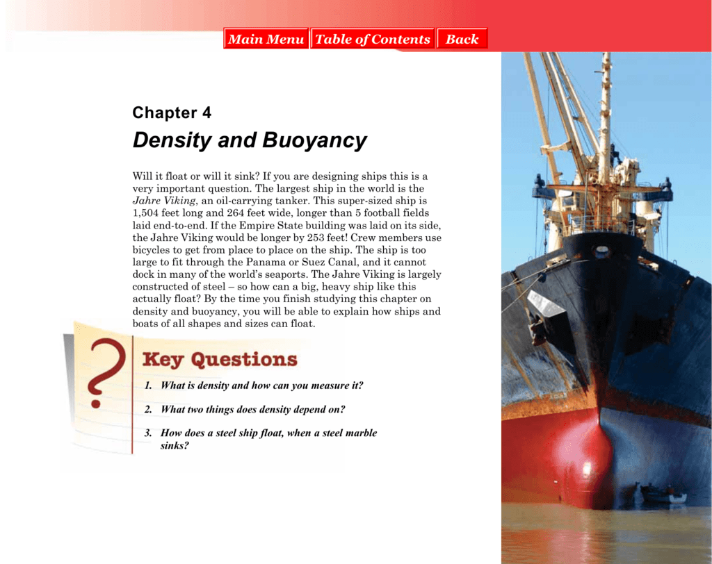 Chapter 4 Density And Buoyancy