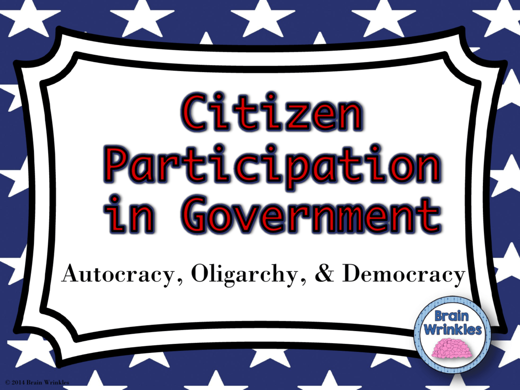 Citizen Participation In Government