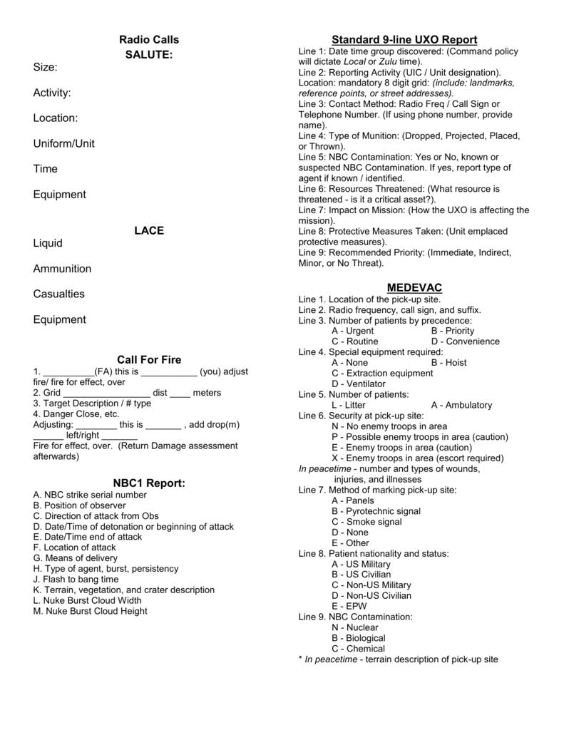 Ldac Cheat Sheets Gif Line Medevac Printable Template Png 791x1024