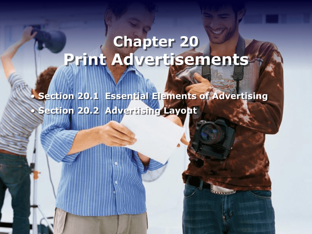 Chapter 20 Print Advertisements Worksheet Answers