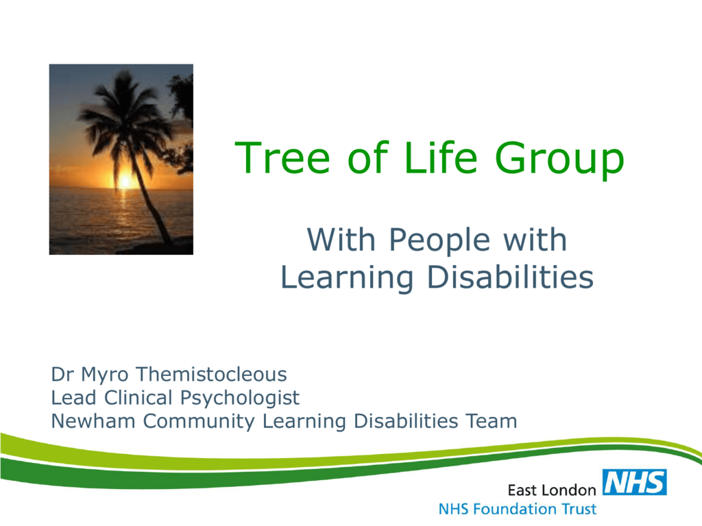 Tree Of Life Group With People With Learning Disabilities