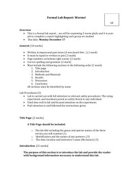 Platyhelminthes Nematoda Annelida Worksheet