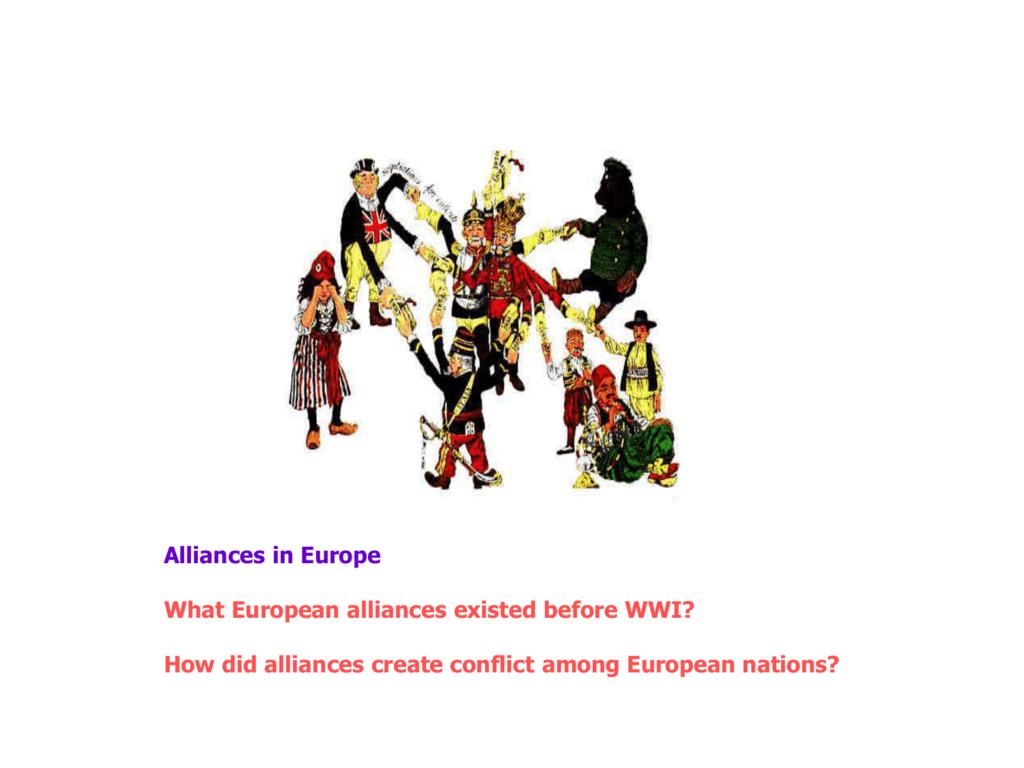 Ww1 Alliances Maps Powerpoint