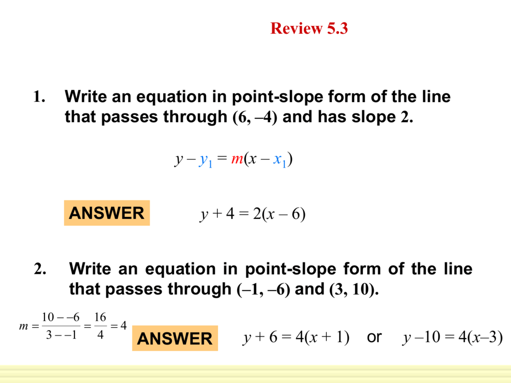 5 4 Write Linear Equations In Standard Form